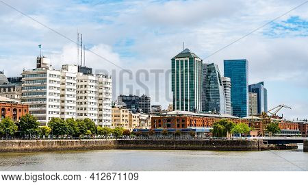 Puerto Madero Waterfront In Buenos Aires, Argentina