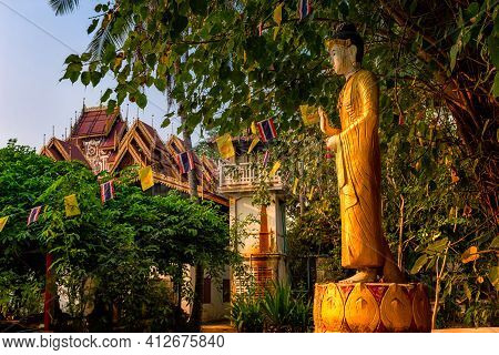 Sri Rong Muang Temple Is Buddhist Temple In Lampang Province Of Thailand.