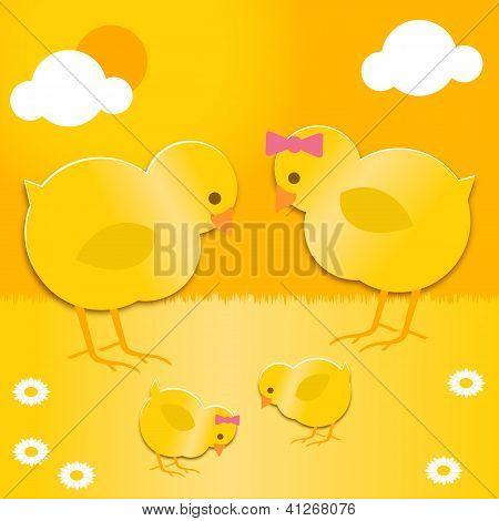 Easter Chicks Family