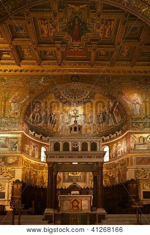 13th century Apse of Santa Maria in Trastevere, Rome, Italy