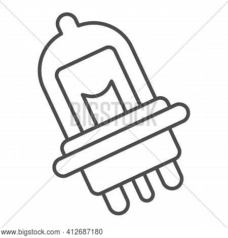Car Light Bulb Thin Line Icon, Car Parts Concept, Auto Bulb Sign On White Background, Car Lights Ico