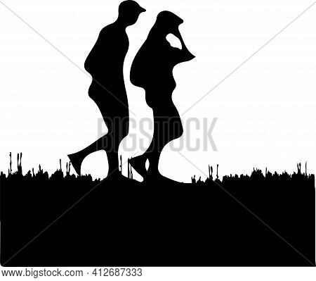 Man And Woman Vector Illustration Isolated On Background , Voter, White, Woman