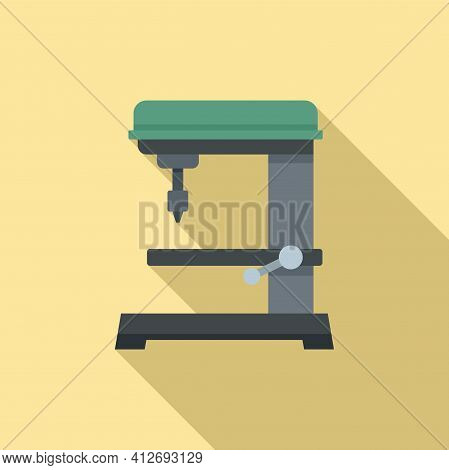 Automated Milling Machine Icon. Flat Illustration Of Automated Milling Machine Vector Icon For Web D