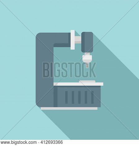 Factory Milling Machine Icon. Flat Illustration Of Factory Milling Machine Vector Icon For Web Desig