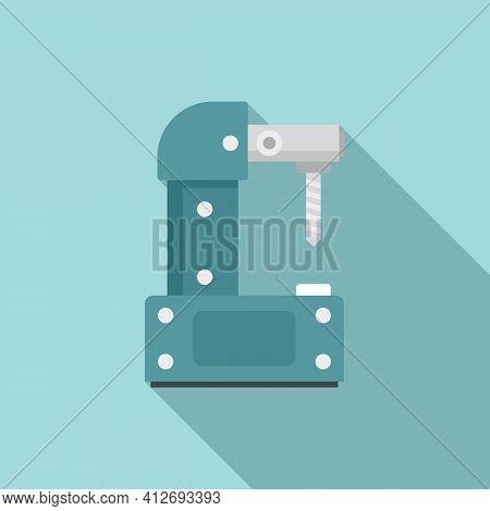 Steel Milling Machine Icon. Flat Illustration Of Steel Milling Machine Vector Icon For Web Design
