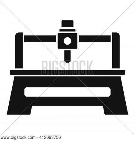 Milling Machine Tool Icon. Simple Illustration Of Milling Machine Tool Vector Icon For Web Design Is