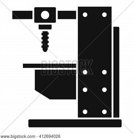 Milling Machine Equipment Icon. Simple Illustration Of Milling Machine Equipment Vector Icon For Web