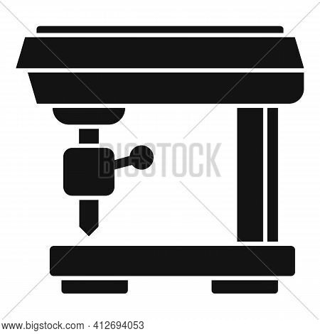 Computer Milling Machine Icon. Simple Illustration Of Computer Milling Machine Vector Icon For Web D