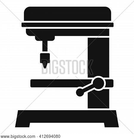 Automated Milling Machine Icon. Simple Illustration Of Automated Milling Machine Vector Icon For Web
