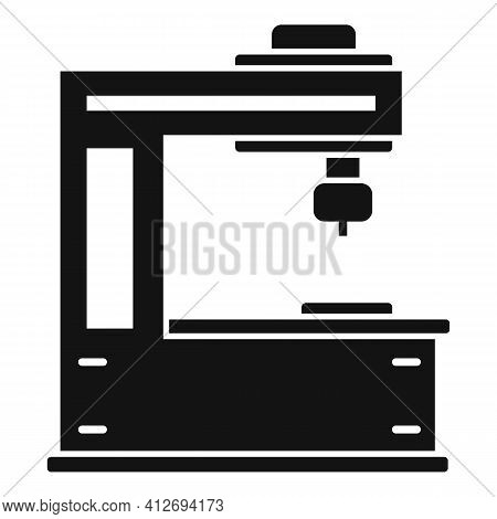 Cutter Milling Machine Icon. Simple Illustration Of Cutter Milling Machine Vector Icon For Web Desig