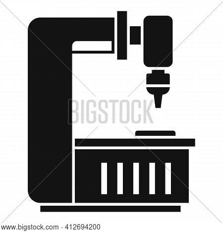 Factory Milling Machine Icon. Simple Illustration Of Factory Milling Machine Vector Icon For Web Des