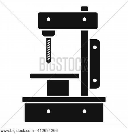 Metal Milling Machine Icon. Simple Illustration Of Metal Milling Machine Vector Icon For Web Design