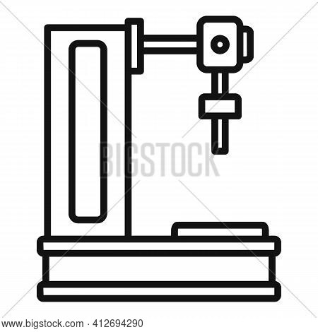 Milling Machine Icon. Outline Milling Machine Vector Icon For Web Design Isolated On White Backgroun