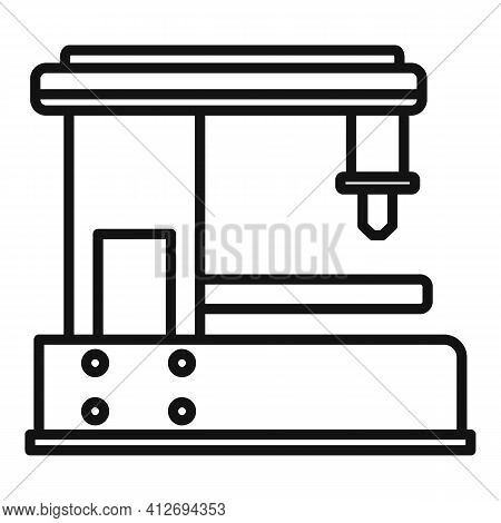 Cnc Milling Machine Icon. Outline Cnc Milling Machine Vector Icon For Web Design Isolated On White B