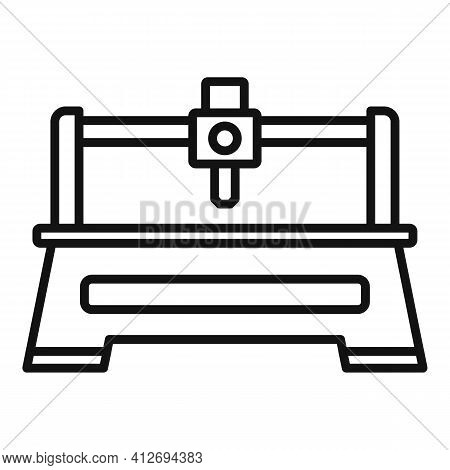 Milling Machine Tool Icon. Outline Milling Machine Tool Vector Icon For Web Design Isolated On White