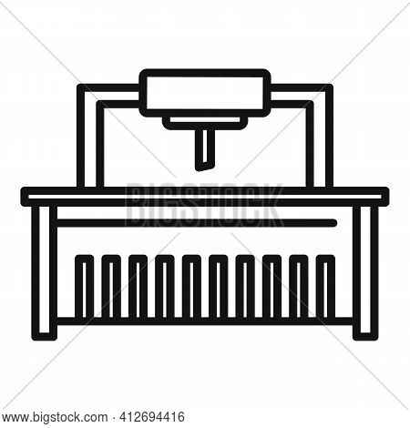 Milling Machine Beam Icon. Outline Milling Machine Beam Vector Icon For Web Design Isolated On White