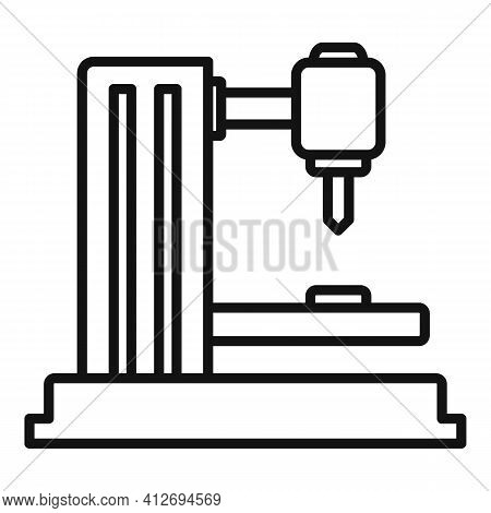 Industrial Milling Machine Icon. Outline Industrial Milling Machine Vector Icon For Web Design Isola