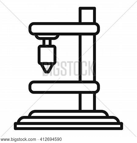 Construction Milling Machine Icon. Outline Construction Milling Machine Vector Icon For Web Design I