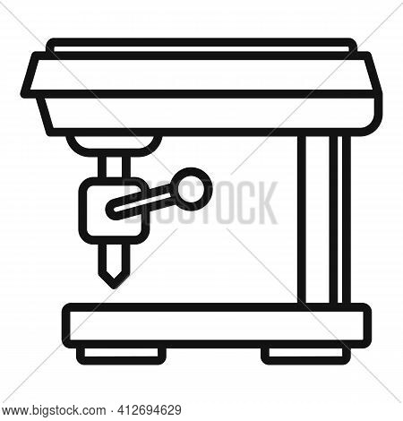 Computer Milling Machine Icon. Outline Computer Milling Machine Vector Icon For Web Design Isolated