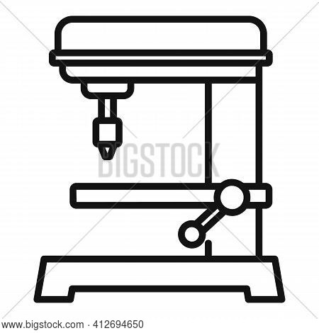 Automated Milling Machine Icon. Outline Automated Milling Machine Vector Icon For Web Design Isolate