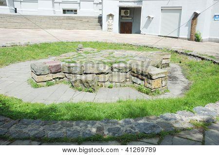 Ancient Slavic Cross-shaped Pagan Shrine - Sacred Place Of Ukrainian Heathens, Kiev,ukraine