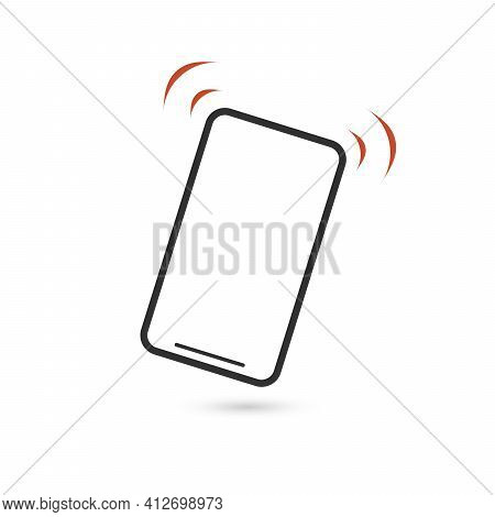 Vibrationg Or Ringing Phone Icon. Vibration Mode Vector Image To Be Used In Web Applications, Mobile