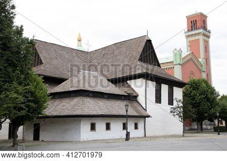 UNESCO monument - Kezmarok - Church of the Holy Trinity, Slovakia