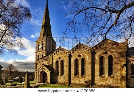 Landscape view of Christ Church, Chatburn.