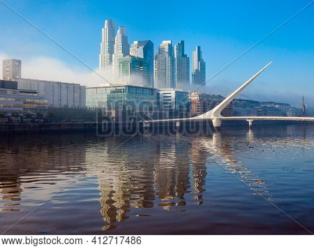 Puerto Madero Waterfront District In Buenos Aires City In Argentina