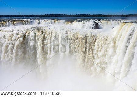 The Iguazu Falls Aerial View