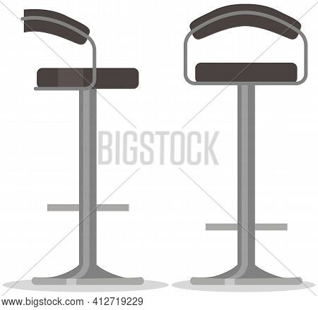 High Bar Stools For Seating And Relaxation. Comfortable Furniture For Bar Interior Design
