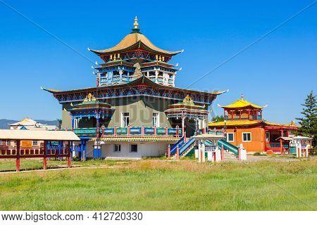 Ivolginsky Datsan Is The Buddhist Temple Located Near Ulan-ude City In Buryatia, Russia