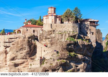 The Monastery Of Varlaam Is The Second Largest Monastery In The Meteora. Meteora Is One Of The Large