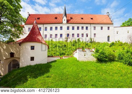 Hohe Schloss Is The Gothic High Castle Of The Bishops Of Augsburg In The Old Town Of Fuessen In Bava