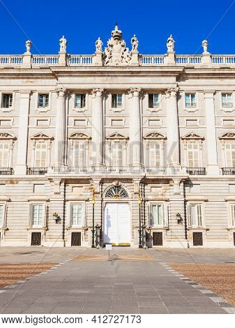 The Royal Palace Of Madrid Or Palacio Real De Madrid Is The Official Residence Of The Spanish Royal
