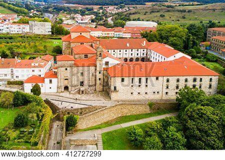 Convent De Santa Maria De Belvis Monastery In Santiago De Compostela In Galicia, Spain