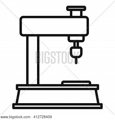 Industry Milling Machine Icon. Outline Industry Milling Machine Vector Icon For Web Design Isolated