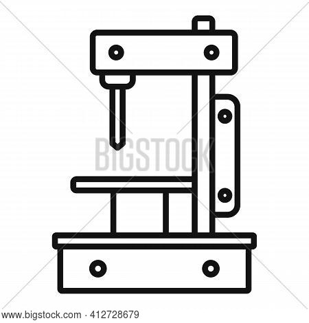 Metal Milling Machine Icon. Outline Metal Milling Machine Vector Icon For Web Design Isolated On Whi
