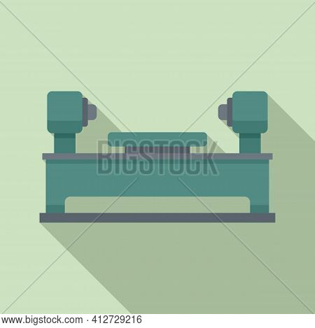 Lathe Equipment Icon. Flat Illustration Of Lathe Equipment Vector Icon For Web Design