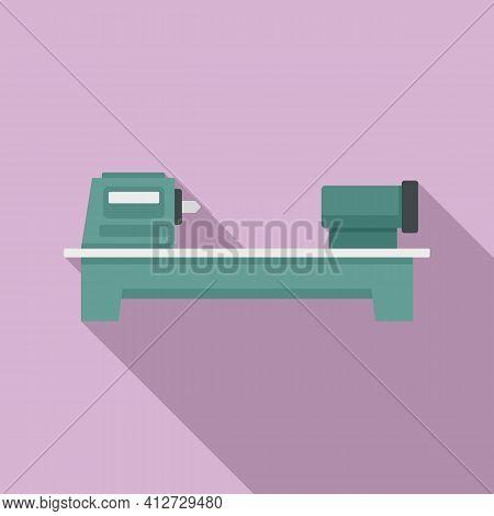 Press Lathe Icon. Flat Illustration Of Press Lathe Vector Icon For Web Design