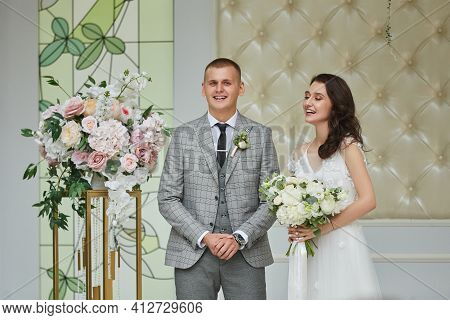 Wedding Ceremony, Bride And Groom On The Wedding Day