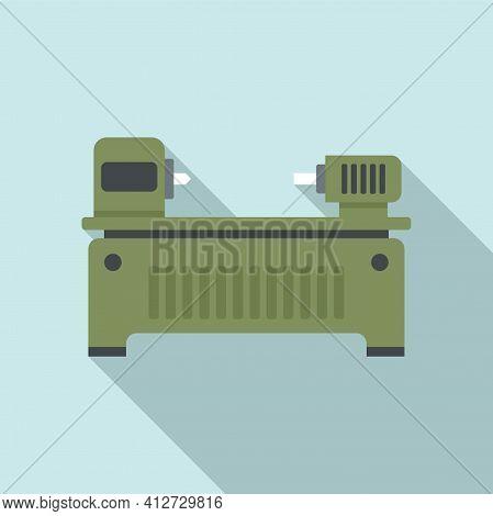 Boring Lathe Icon. Flat Illustration Of Boring Lathe Vector Icon For Web Design