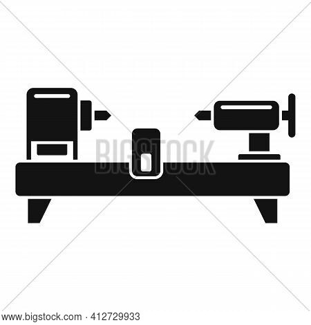 Drilling Lathe Icon. Simple Illustration Of Drilling Lathe Vector Icon For Web Design Isolated On Wh