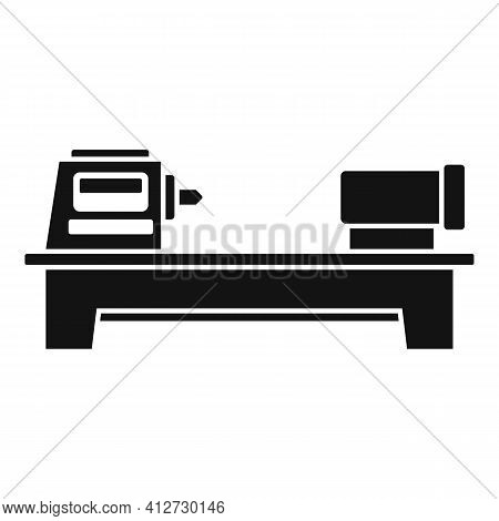 Press Lathe Icon. Simple Illustration Of Press Lathe Vector Icon For Web Design Isolated On White Ba