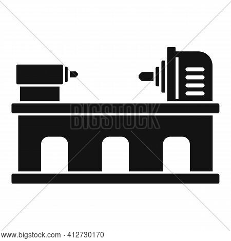 Industry Lathe Icon. Simple Illustration Of Industry Lathe Vector Icon For Web Design Isolated On Wh