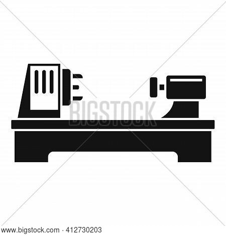 Steel Lathe Icon. Simple Illustration Of Steel Lathe Vector Icon For Web Design Isolated On White Ba