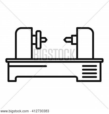 Automated Lathe Icon. Outline Automated Lathe Vector Icon For Web Design Isolated On White Backgroun