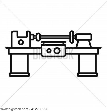 Work Lathe Icon. Outline Work Lathe Vector Icon For Web Design Isolated On White Background