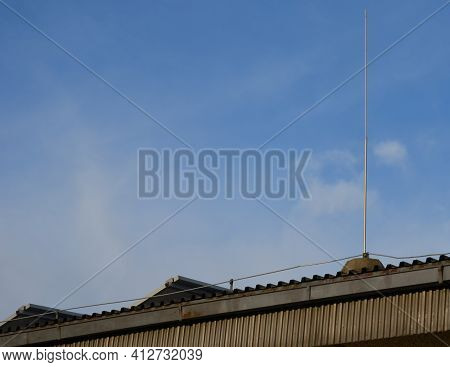 Lightning Conductor Is Used To Protect Buildings From Lightning, It Is Led To The Highest Points Of
