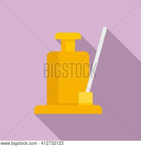 Hydraulic Jack Icon. Flat Illustration Of Hydraulic Jack Vector Icon For Web Design
